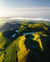 7 lakes on São Miguel - Azores (Portugal) - Drone photo