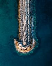 Povoação pier - Azores (Portugal) - Drone photo