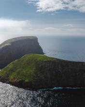 Ilhéus das Cabras on Terceira - Azores (Portugal) - Drone photo