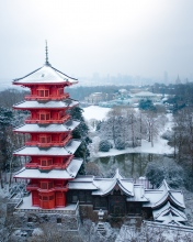 Japanse tower - Belgium - Drone photo