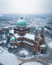 Basiliek Koekelberg - Belgium - Drone photo