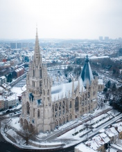 Notre Dam Church - Belgium - Drone photo