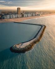 Pier Oostende - Belgium - Drone photo