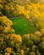 Soccer field - Belgium - Drone photo