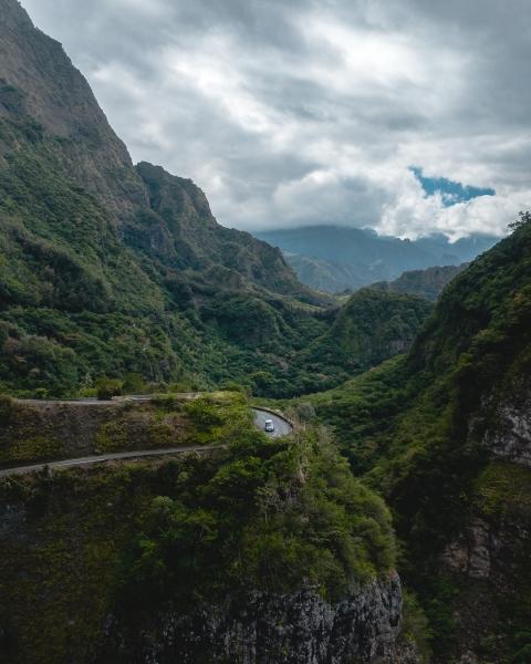 Black Sheep campervan in La Réunion, France - Drone photo