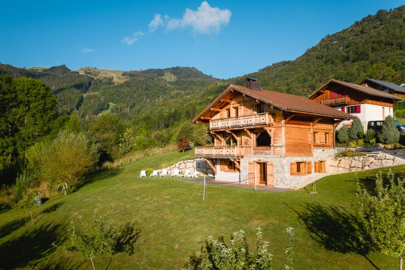 Chalet in French Alps - Drone photo