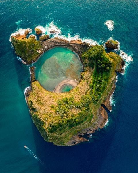Island of Vila Franca - Azores (Portugal) - Drone photo
