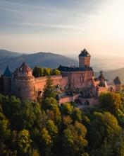 Chateau Haut-Koenigsbourg - France - Drone photo