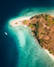 Kelor island - Komodo National Park - Indonesia - Drone photo