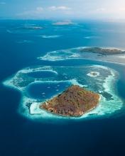 Kukusan island - Komodo National Park - Indonesia - Drone photo
