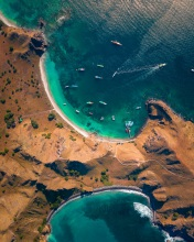 Padar island - Komodo National Park - Indonesia - Drone photo