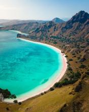 Pink Beach - Komodo National Park - Indonesia - Drone photo
