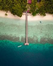 Eco lodge - Indonesia - Drone photo