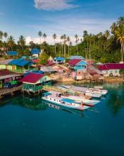 Mirror Lake - Indonesia - Drone photo