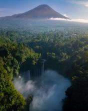 Sewu Waterfall - Indonesia - Drone photo