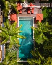 Swimming pool - Bali - Indonesia - Drone photo