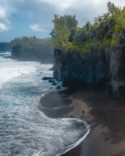 Manapany beach - La Réunion (France) - Drone photo