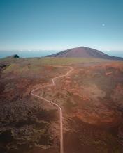 Route du volcan - La Réunion (France) - Drone photo