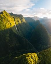 Cascade Blanche  - La Réunion (France) - Drone photo