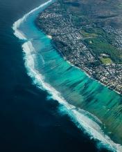 Coral reef - La Réunion (France) - Drone photo
