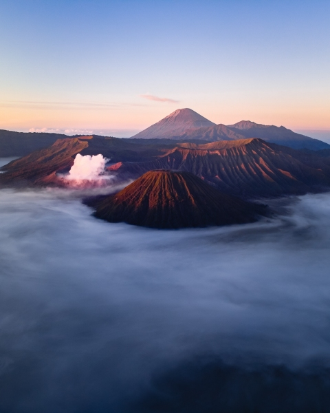 Bromo volcano - Indonesia with Merapi