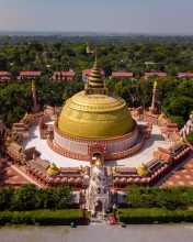 Pagoda - Myanmar - Drone photo