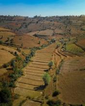 Trekking Kalaw to Inle Lake - Myanmar - Drone photo
