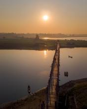 U-Bein bridge - Myanmar - Drone photo
