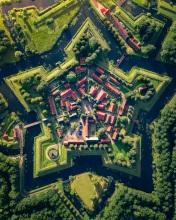 Vesting Bourtange - The Netherlands - Drone photo