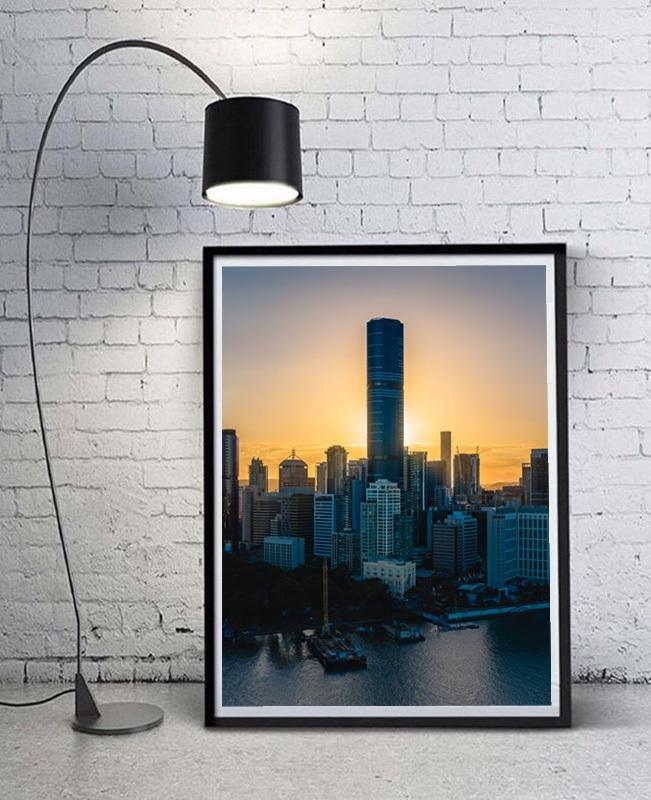 Brisbane skyline in Australia