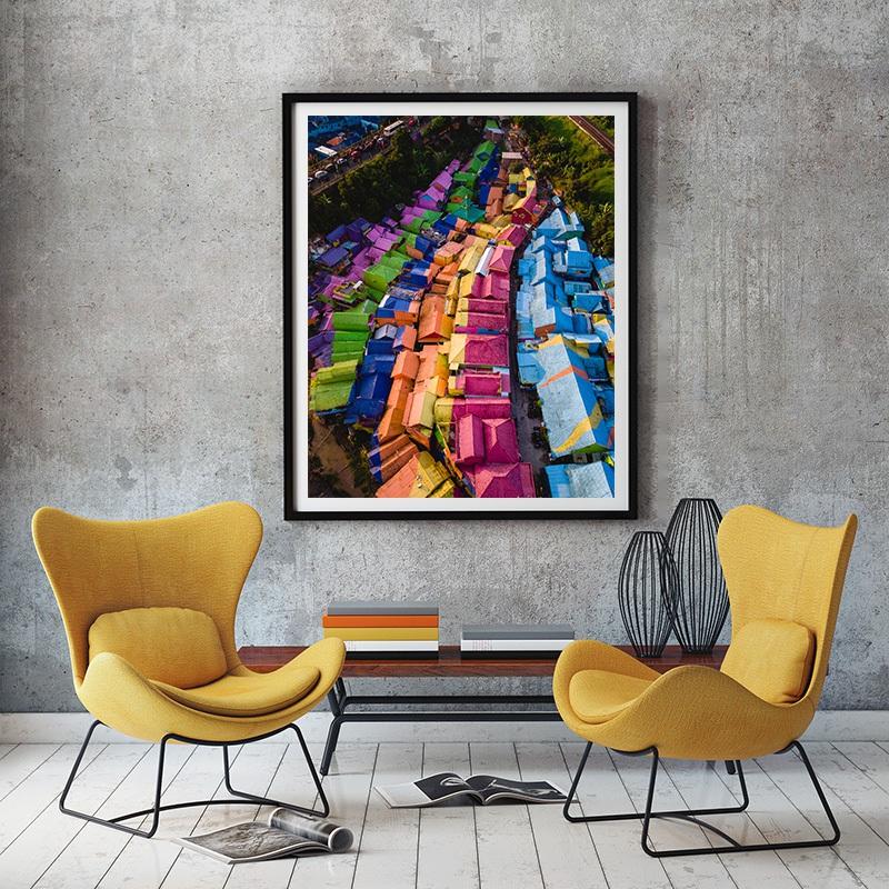 Rainbow village in Indonesia