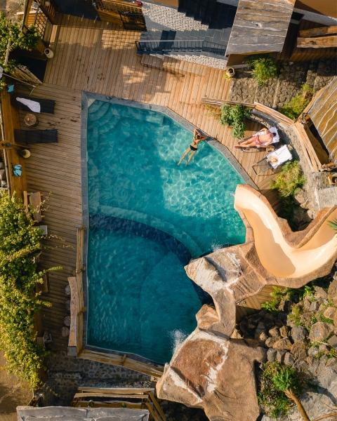 Lodge des Vacoas - La Réunion, France - Drone photo