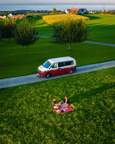 Vanomobil roadtrip - Drone photo