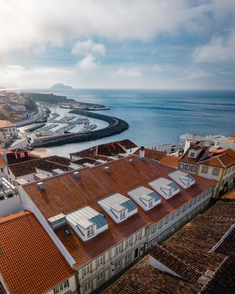 Zenite boutique hotel in Angra do Heroísmo - Terceira - Drone photo