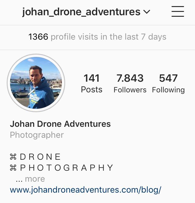 Johan Drone Adventures Instagram Profile