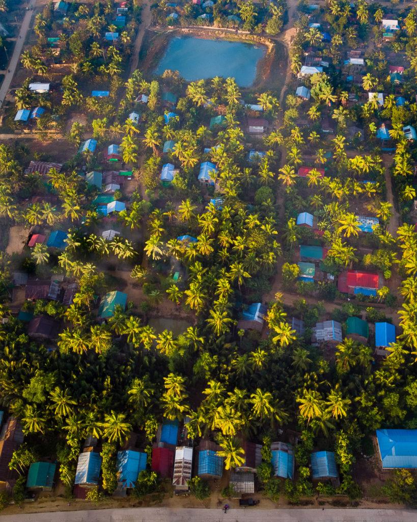 Mrauk-U village from above