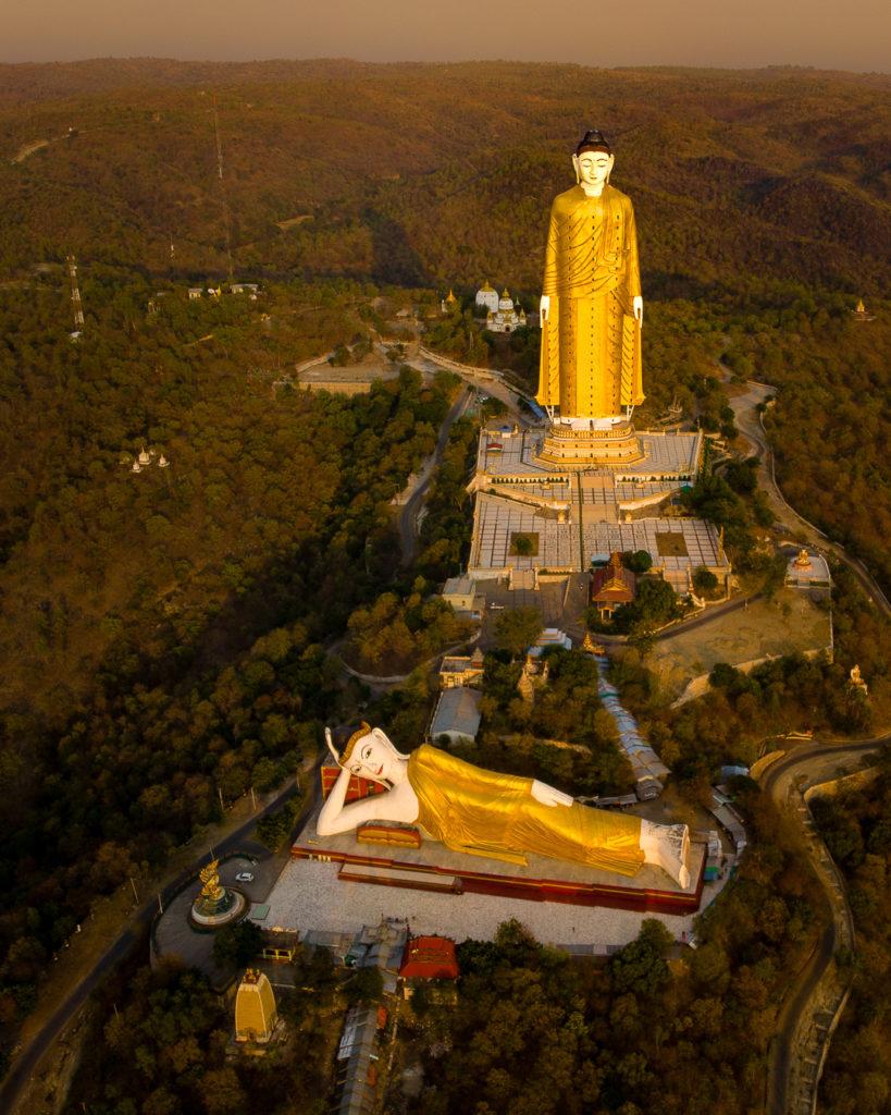 Giant Buddha statues - Monywa