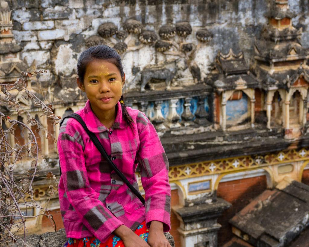 Smiling girl in Myanmar
