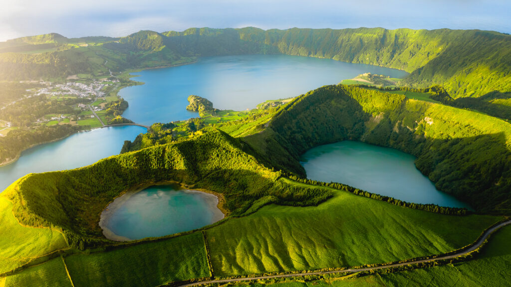 Drone photo of Sete Cidades - Azores, Portugal