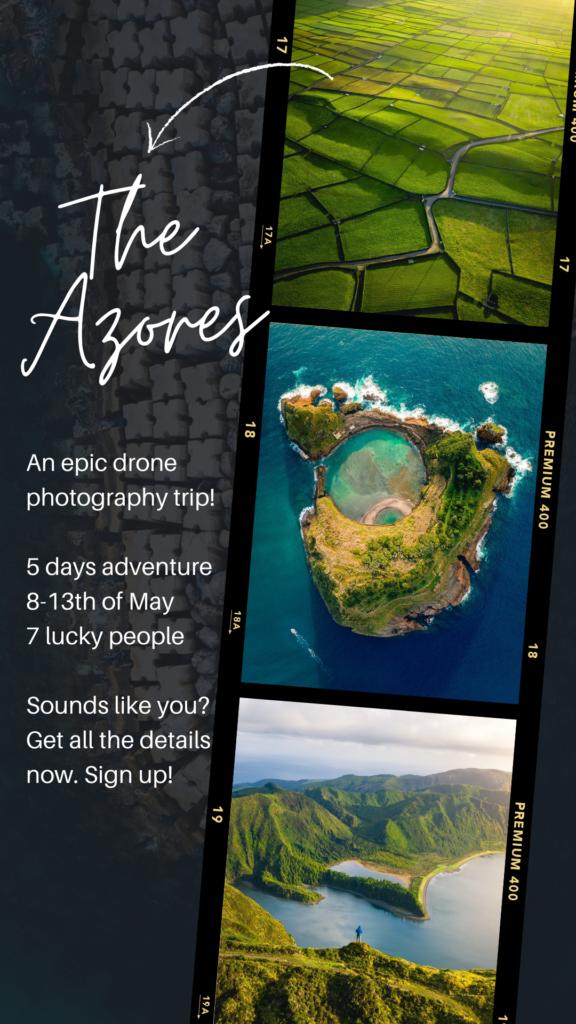 Azores drone photo trip