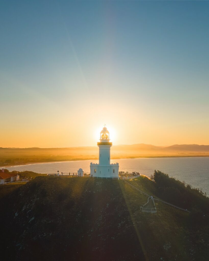 Add lens flares to your drone photos when you shoot against the sun for that magical effect