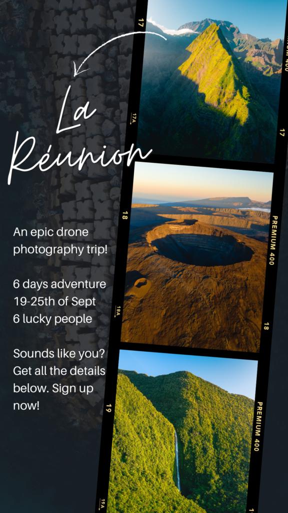 Drone photo trip - La Reunion
