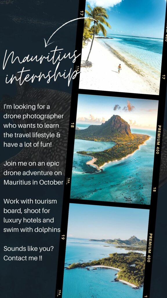 Mauritius drone photo internship